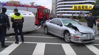 北市車禍頻傳 轎車攔腰撞救護車釀3傷