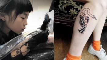 入行5年!11歲小女孩刺青師 日式禪繞創獨特風格