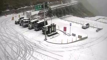 合歡山下雪了!積雪約5公分 民眾追雪嗨翻