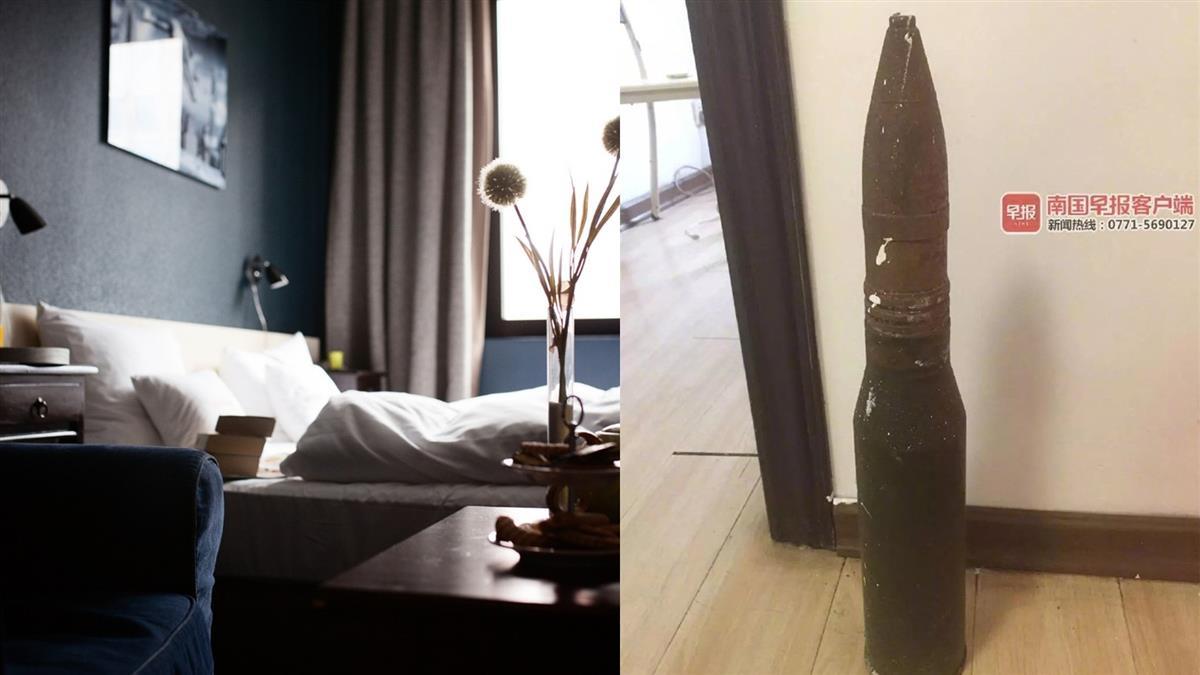 老夫婦退租 房東打掃驚見45公分砲彈嚇壞