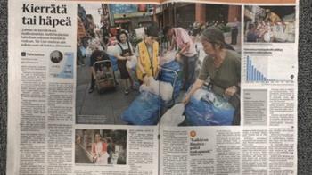 芬蘭第一大報介紹台灣資源回收 大讚全球典範