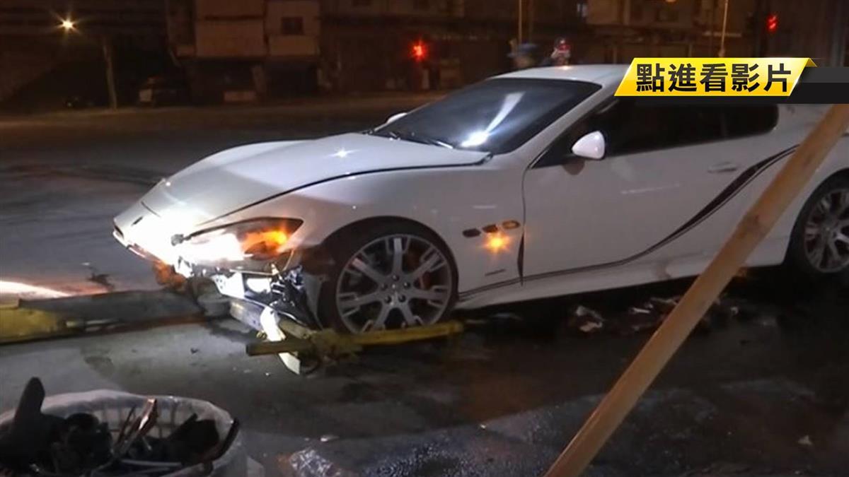20歲男租瑪莎拉蒂遭撞車頭毀 民眾:賠慘了!