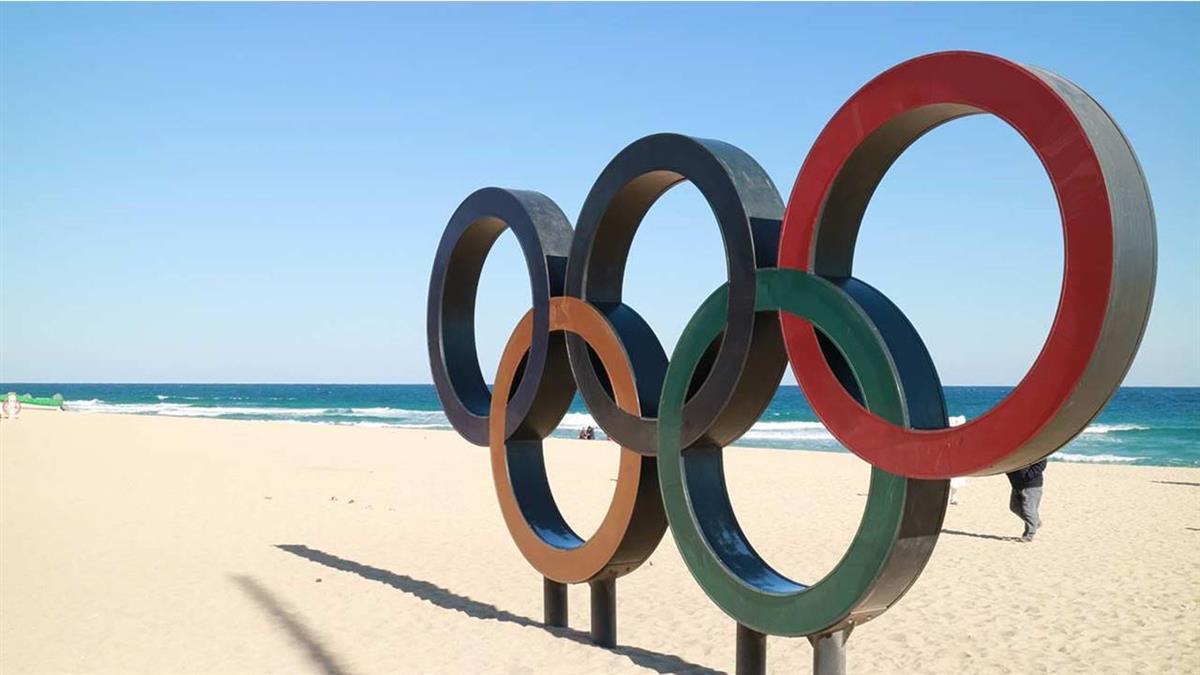 奧運五環挺立東京台場海上 1/24正式點燈