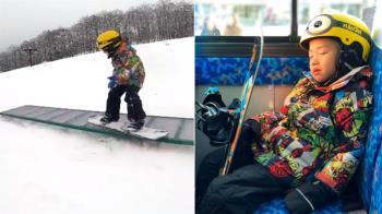 超帥!4歲弟滑雪板超神動作曝 網看傻喊偶像