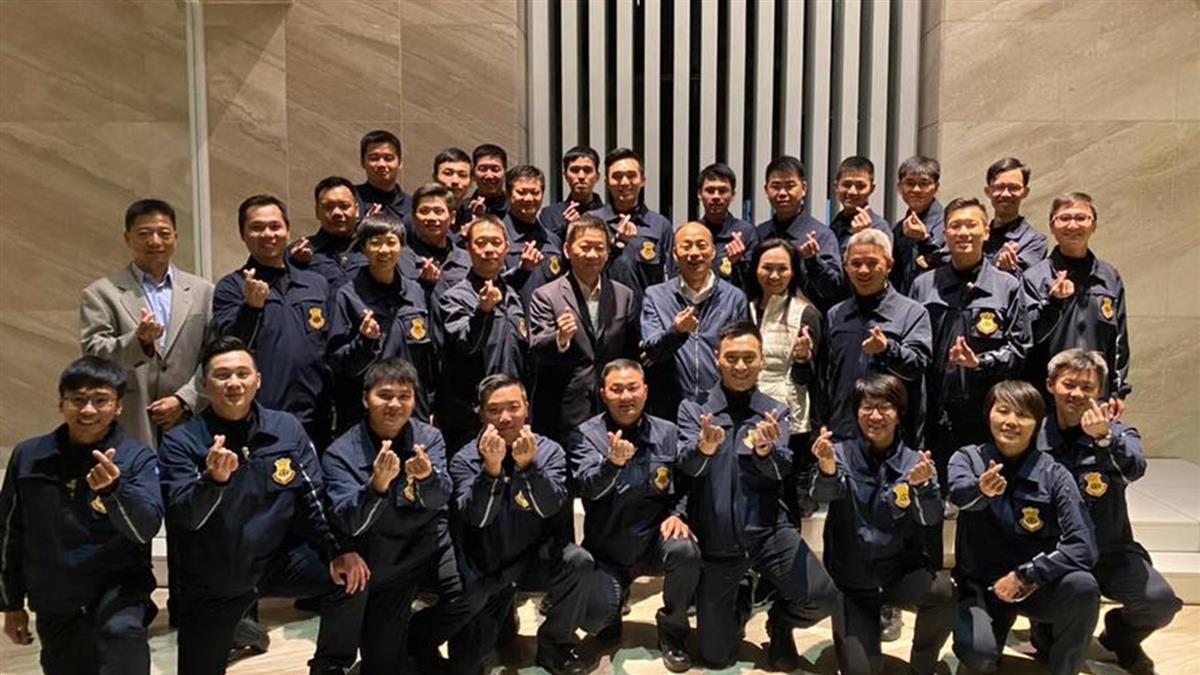 韓國瑜貼特勤人員照片引爭議 市府:有心人炒作