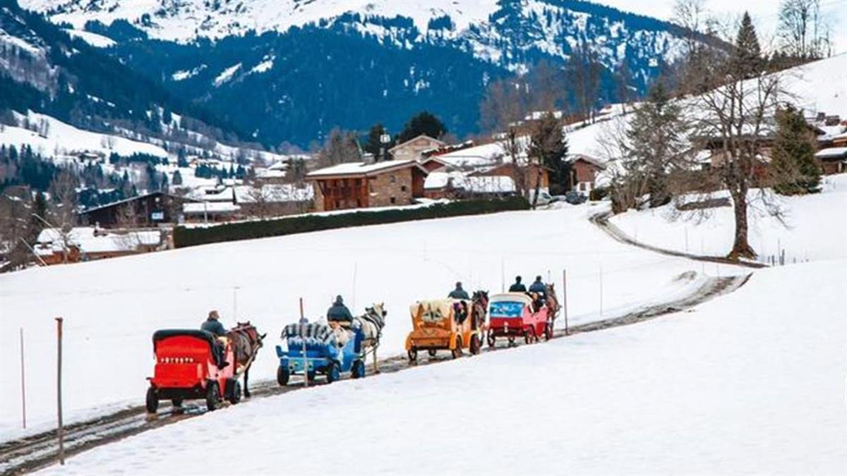 阿爾卑斯山腳下搭馬車 漫遊夢幻銀白童話世界