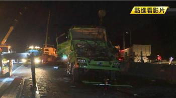 疑前輪爆胎衝對向車道 2貨車對撞釀1死1傷