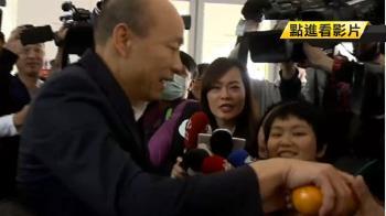 歲末終場市政會議 韓分送記者橘子不答問題