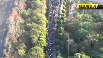 初一排錢母!紫南宮近6萬人排隊 綿延7公里