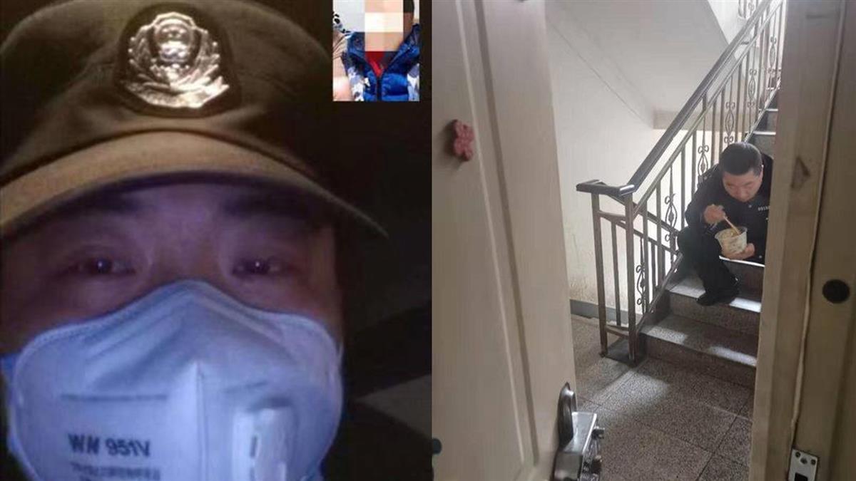 怕傳染!武漢男過年不進家門 蹲樓梯吃餃子