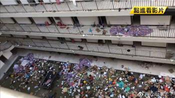 武漢徵用宿舍當隔離點 學生物品被當垃圾丟廣場