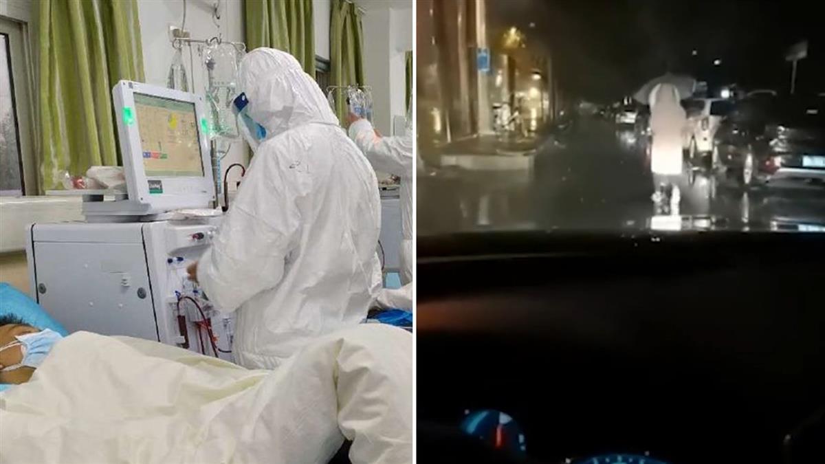 憂傳染家人!女醫冒雨走路上夜班 尪開車燈暖護送