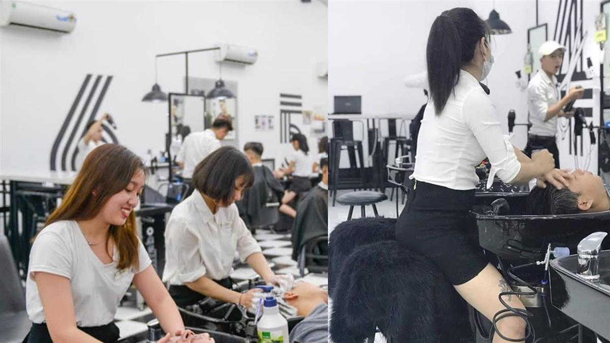 越南超辣理髮店「帝王服務」老司機:該洗頭了