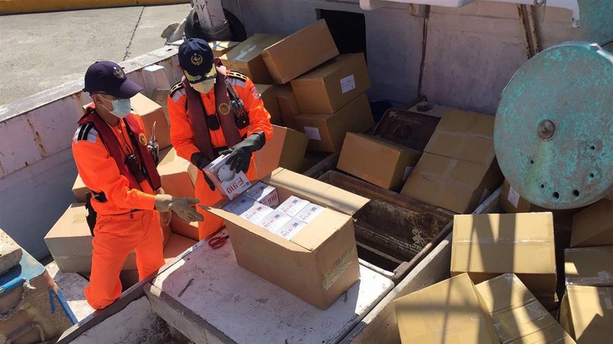 海巡攔截!澎湖漁船載7萬口罩運出境 下場慘了