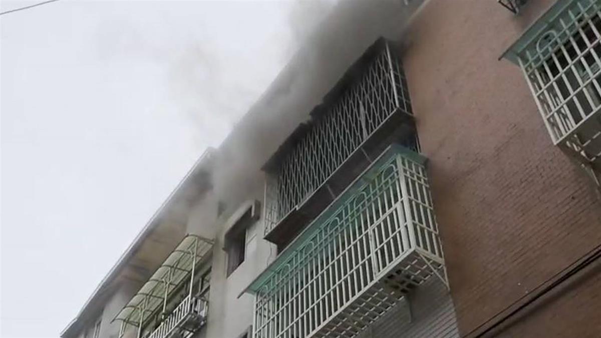 板橋公寓驚傳火警 7旬老翁送醫不治