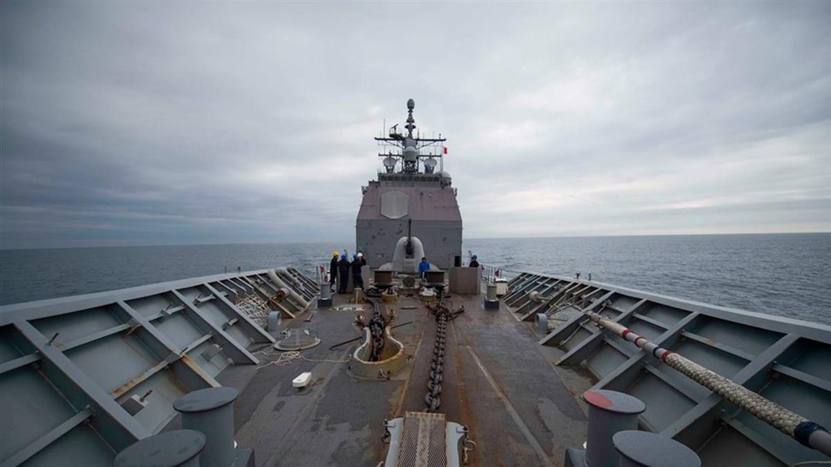 NHK:牽制中國 美神盾級巡洋艦通過台灣海峽