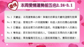 12星座本周愛情吉日吉時(2.24-3.1)