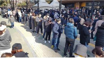南韓2hr賣掉48萬口罩 賣場排隊人龍看不到尾巴