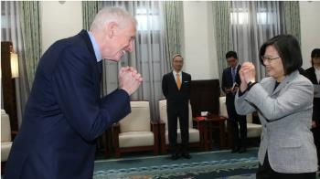 蔡總統接見莫健  感謝美眾議院通過台北法案
