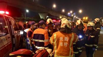國道巴士擦撞工程車 滑冰隊師生等13人受傷