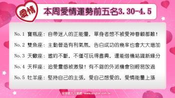 12星座本周愛情吉日吉時(3.30-4.5)