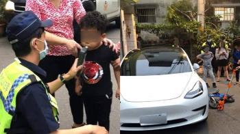 史上最小!5歲童撞特斯拉遭酒測 警政署說話了