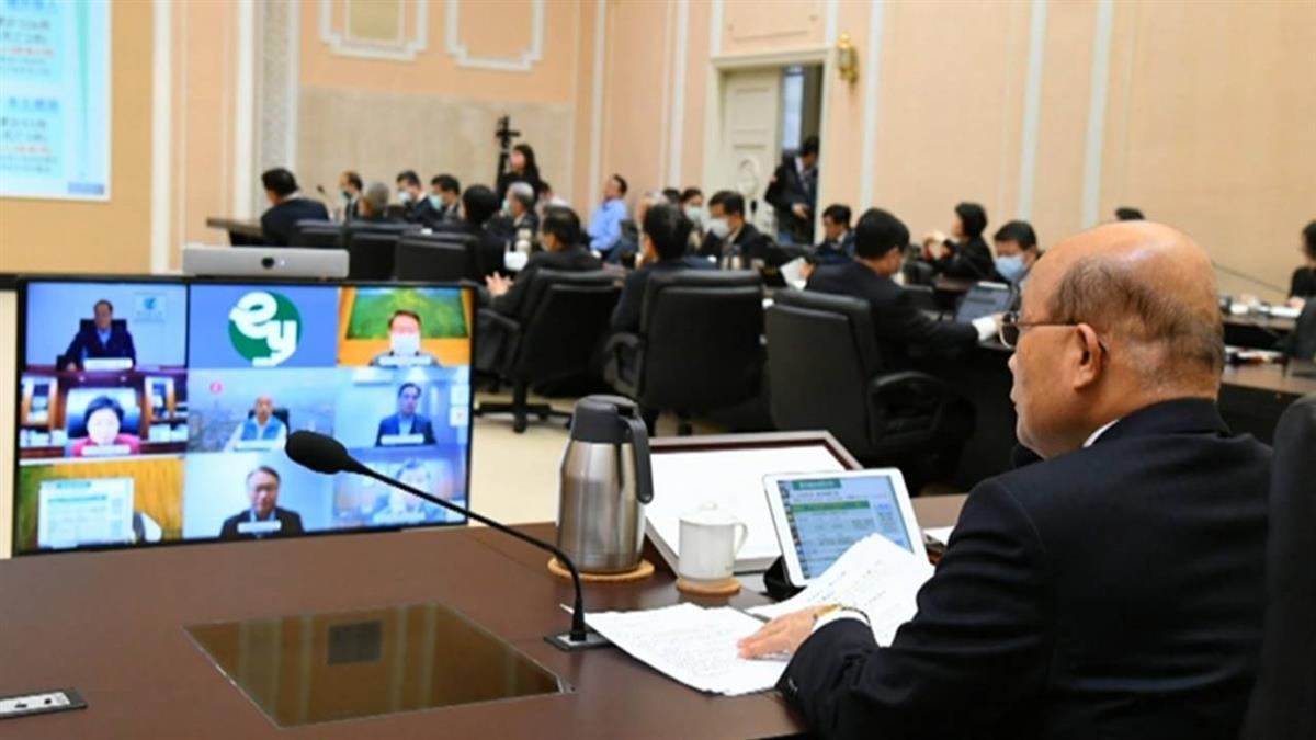 政院首度啟動視訊會議 蘇貞昌:還不到封城地步