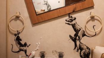 肺炎疫情:英國「塗鴉」藝術家班克斯在家工作惹惱了誰
