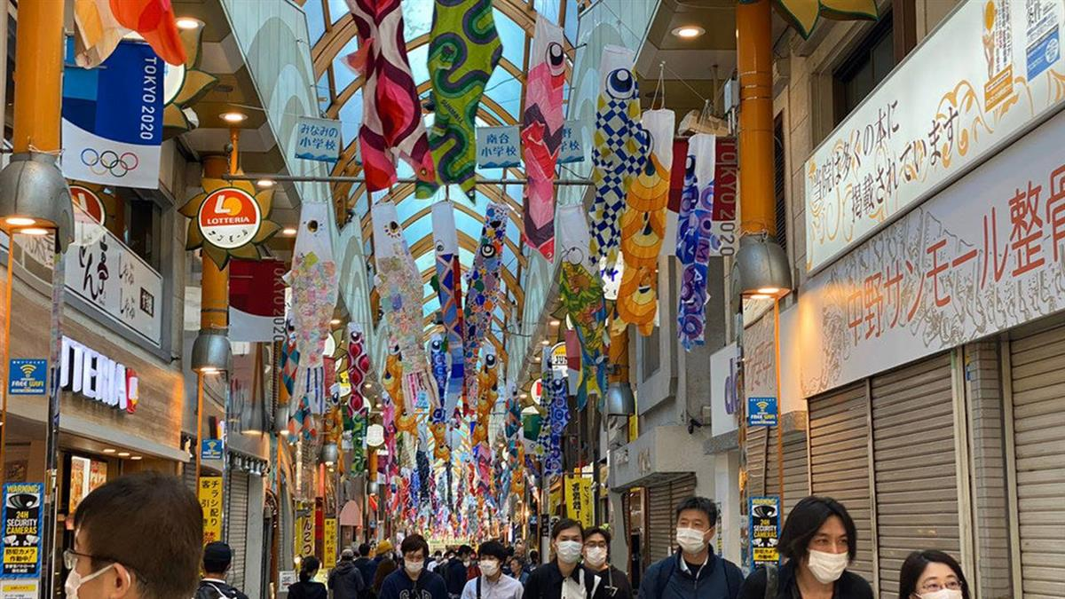 東京都知事籲市民宅在家 商店街仍見人潮
