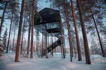 瑞典夢幻樹屋酒店 與世隔絕看極光