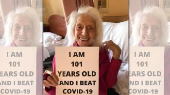 地表最強阿嬤!挺過西班牙流感、癌症 101歲人瑞戰勝武漢肺炎