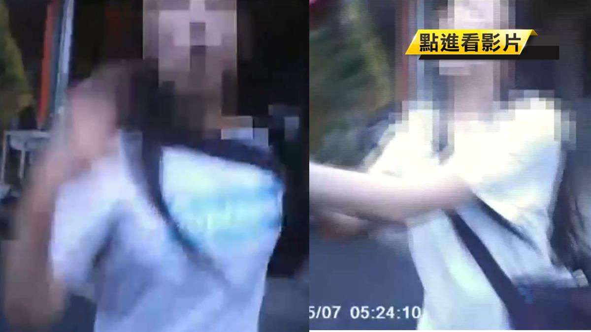 台中妙齡女喝太醉闖馬路!警攔阻她狂喊救命撂英文