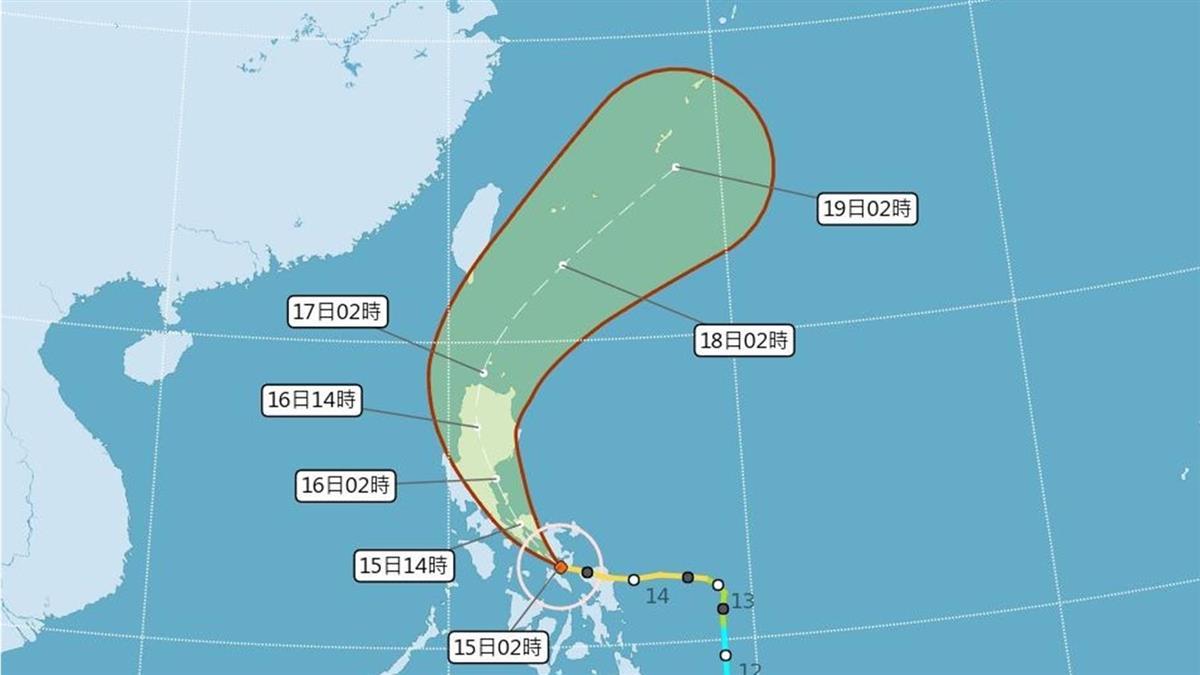 白天炎熱 颱風黃蜂外圍環流16日起影響台灣
