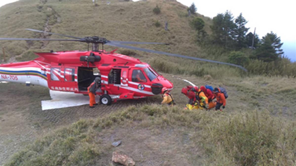 男攀雪山東峰急救不治  空勤直升機後送遺體下山