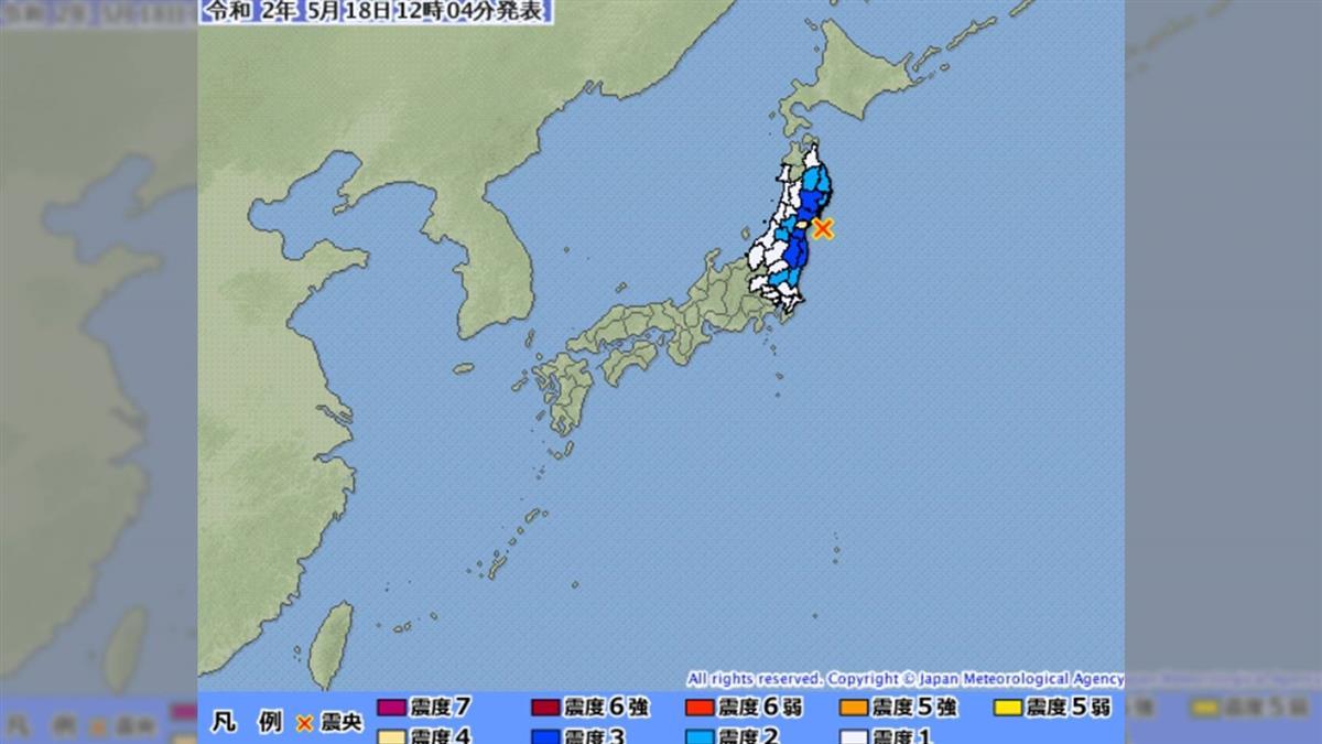 日本東北外海規模5.2淺層地震 無海嘯威脅