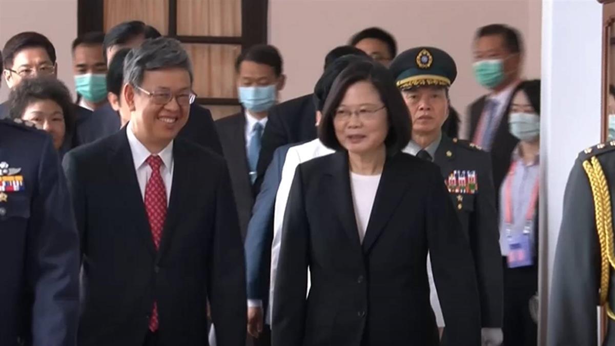 大仁哥卸任  蔡賴送陳建仁離開總統府