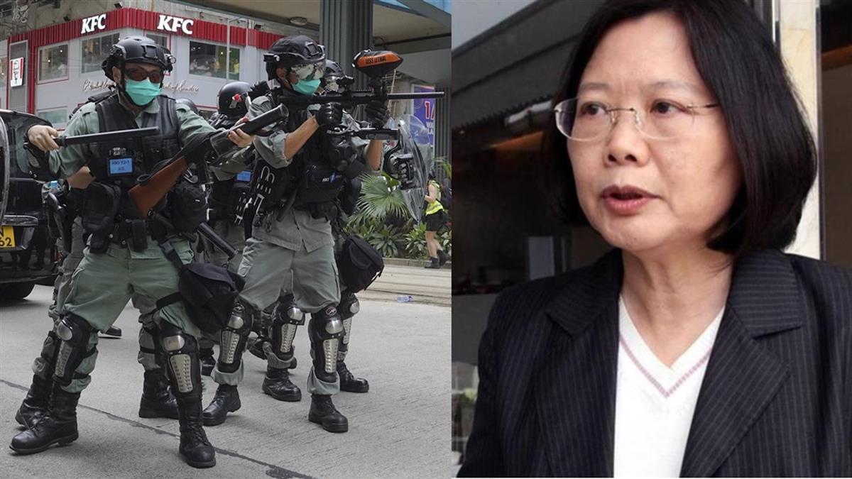 香港反國安法遊行120人遭逮!蔡英文終於說話了