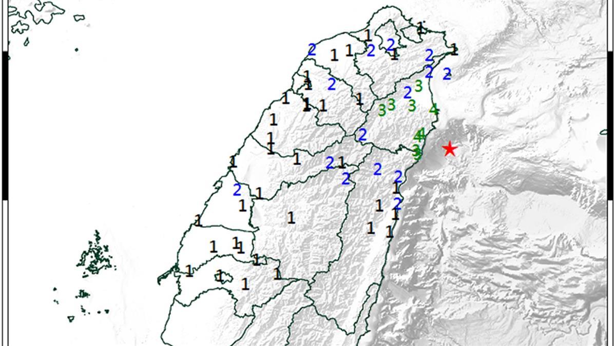 地牛翻身!06:31規模5.2地震 最大震度宜蘭4級