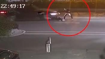 情侶吵架!孕女友怒躺馬路 下秒遭輾痛失寶寶