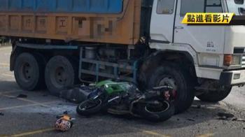 死黨約騎重機 追撞左轉砂石車 釀1死1命危