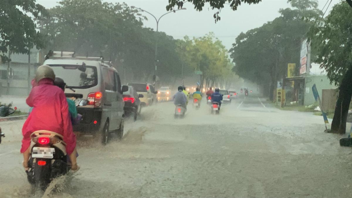 高雄淹水了!5hr累積雨量破百毫米 警戒區域曝