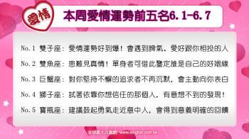 12星座本周愛情吉日吉時(6.1-6.7)