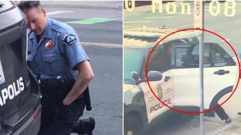 白人警疑似車上動手影片曝光 後方警員還冷眼旁觀
