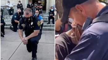 白人警「抱痛哭非裔少年」 畫面揪心網友眼眶泛紅