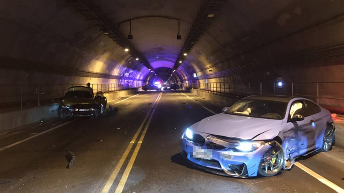 BMW跑車基平隧道競速  連環撞3駕駛送辦