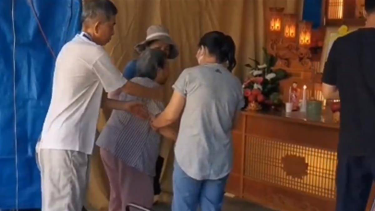 痛失2至親!92歲承翰嬤靈堂痛哭:我的心肝兒子