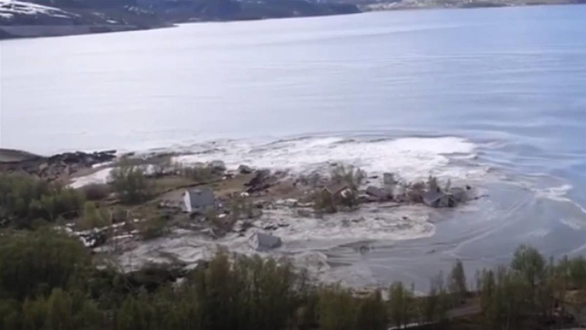挪威土地、房子緩緩移入海 90秒震撼畫面曝!