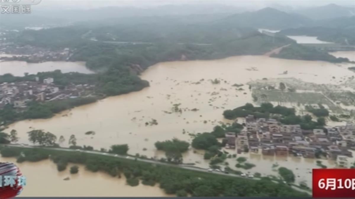 大陸南方豪雨近180萬人受災 已知9死5失蹤