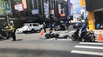 台南支援警車撞機車 騎士腦出血急救中