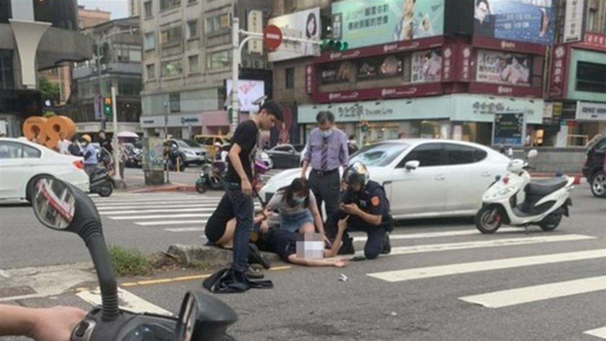 驚悚畫面曝!23歲警遭保時捷猛撞 噴飛重摔送醫急搶救